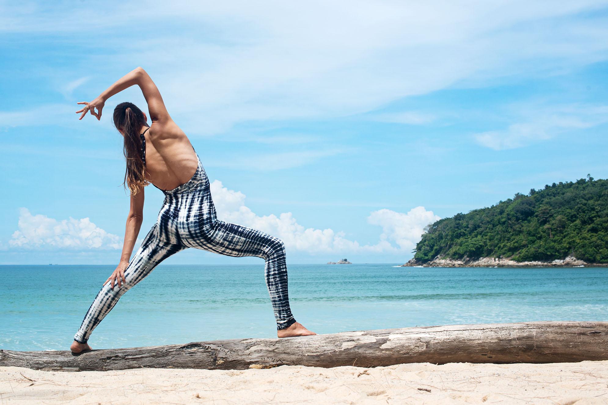 Reversed Worrior Omlala Yoga Tie Dye Jumpsuit Legging Phuket